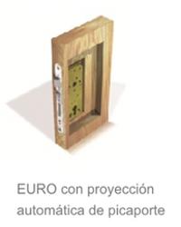 EURO con proyeccion automatica de picaporte