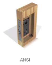 sistema de proyección ANSI de la cerradura electronica Onity Trillium