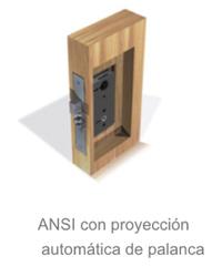ANSI con proyeccion automatica de palanca  de la cerradura electronica Onity Trillium