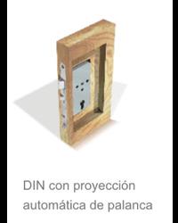 DIN con proyeccion automatica de palanca  de la cerradura electronica Onity Trillium
