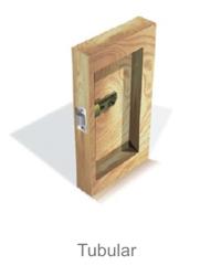 Proyeccion tubular  de la cerradura electronica Onity Trillium